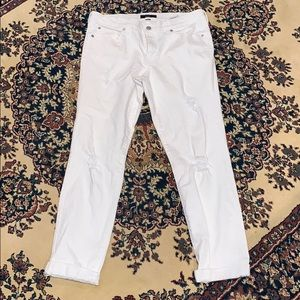 Banana Republic factory distressed white denim